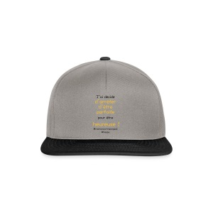 t-shirt_happy_orange - Casquette snapback