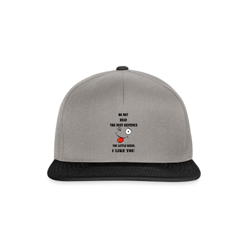 Do not read the next sentence - Snapback Cap