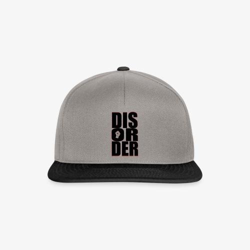 Disorder Logo Schwarz - Snapback Cap