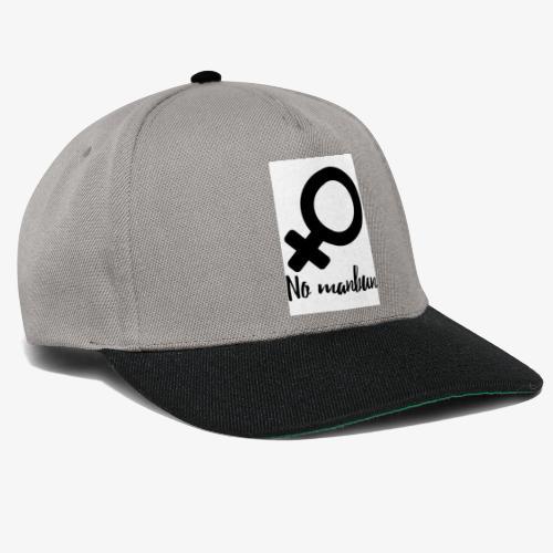 No Manbun - Snapback Cap