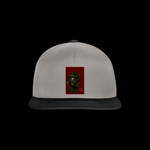 ww2 britse soldaat met rode achtergrond - Snapback cap