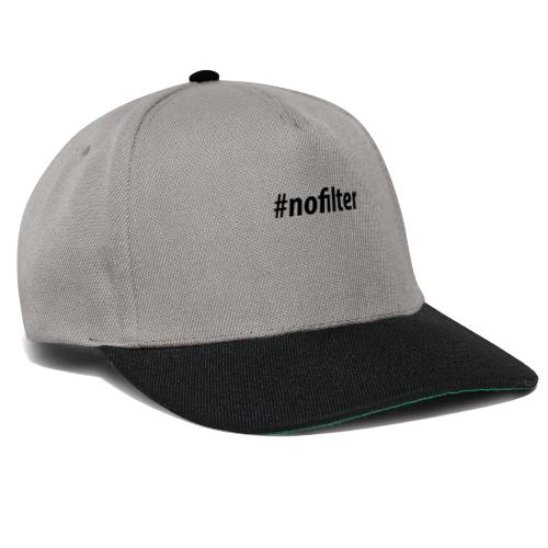 #nofiler - Snapback cap