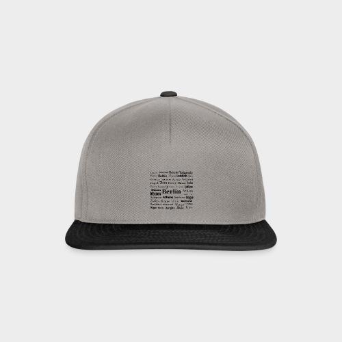 European capitals - Snapback Cap