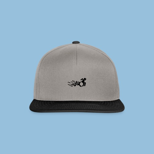 Wheelchair with flames 013 - Snapback cap