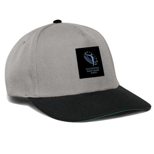 02 ubie on black centered square jpg - Snapback cap
