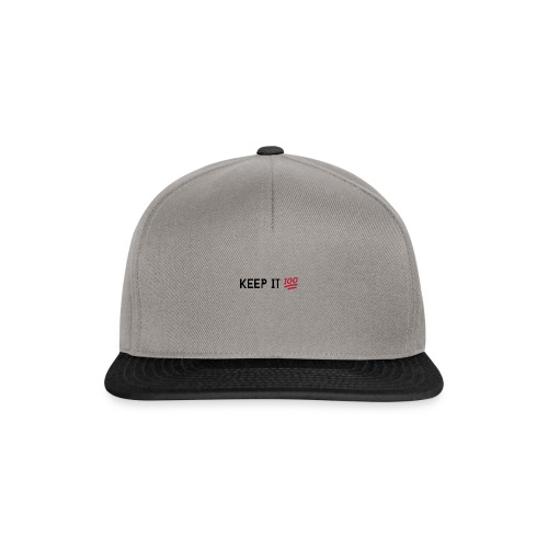 KEEP IT 100 ZWART png - Snapback cap
