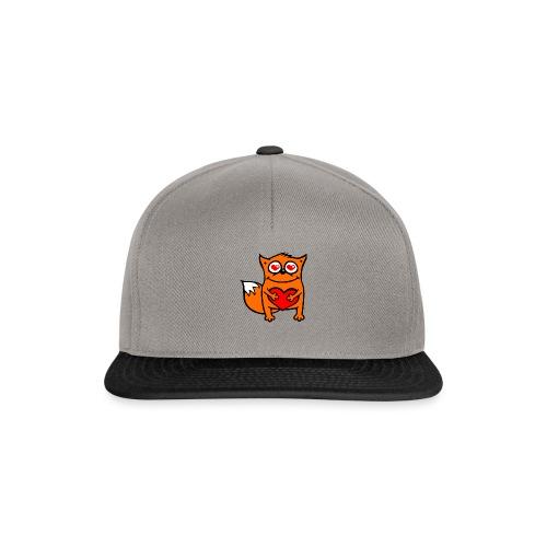 verliebter Fuchs - Herz rot T-Shirts - Snapback Cap