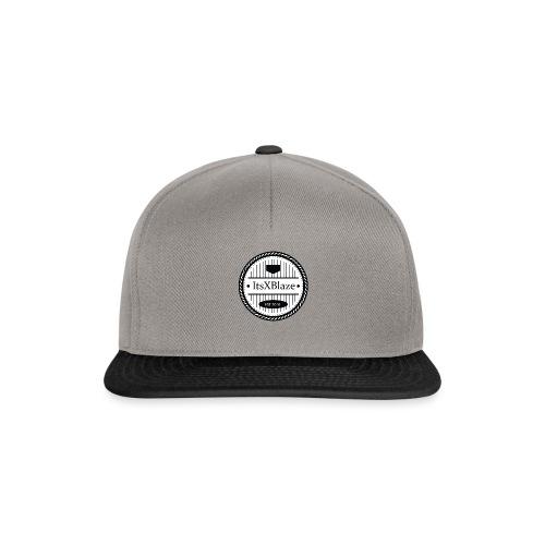 ItsXBlaze Logo 3 White V-Neck Option 2 - Snapback cap