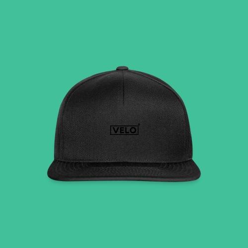 Velo Icon Blk - Long Sleeve Baseball Shirt W/N Clr - Snapback Cap