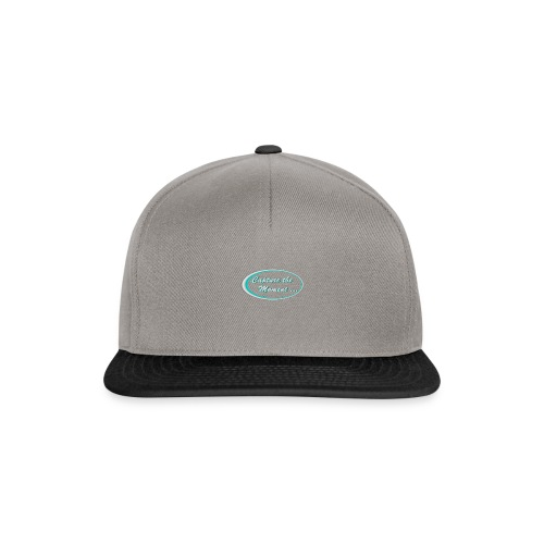 Logo capture the moment photography slogan - Snapback Cap