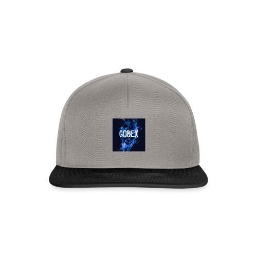 Logo GOREX teschio di fumo blu N°2 - Snapback Cap