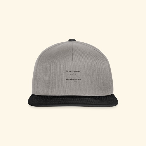 Lateinischer Spruch - Snapback Cap