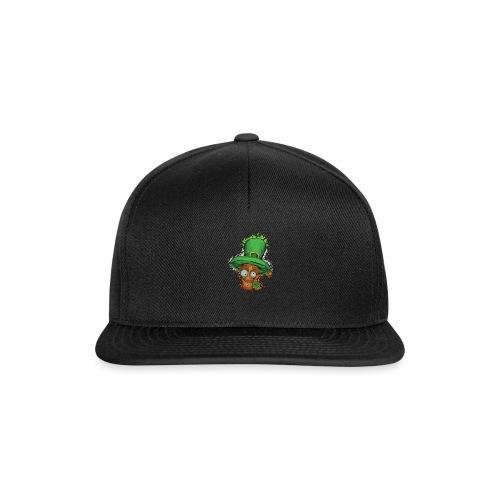 Leprechaun with shamrock - Snapback Cap