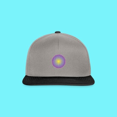Fibonacci based image with radiating elements - Snapback Cap