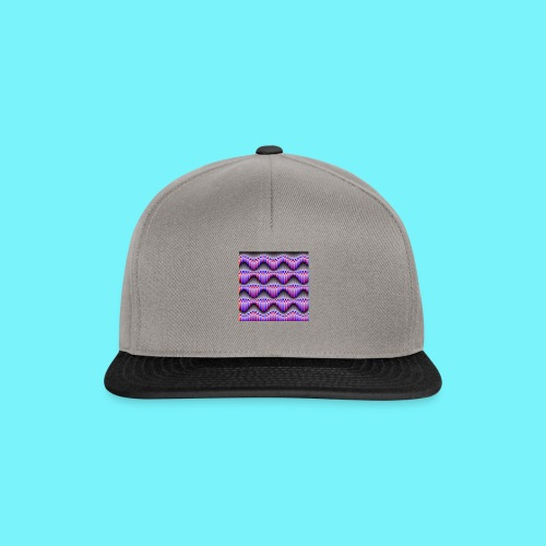 Sine waves in red and blue - Snapback Cap