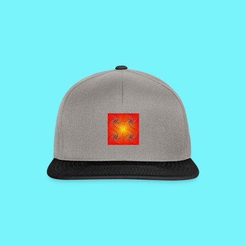 Pursuit curve in red and yellow - Snapback Cap