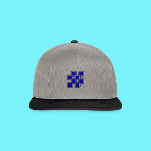Blue Blocks with shadows and perimeters - Snapback Cap