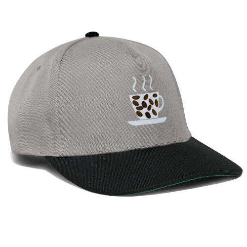 grey cup cofee with beans - Snapback Cap