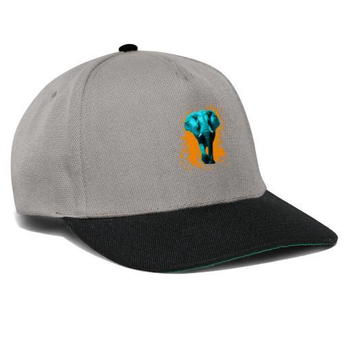 Elefant in Türkis - Snapback Cap
