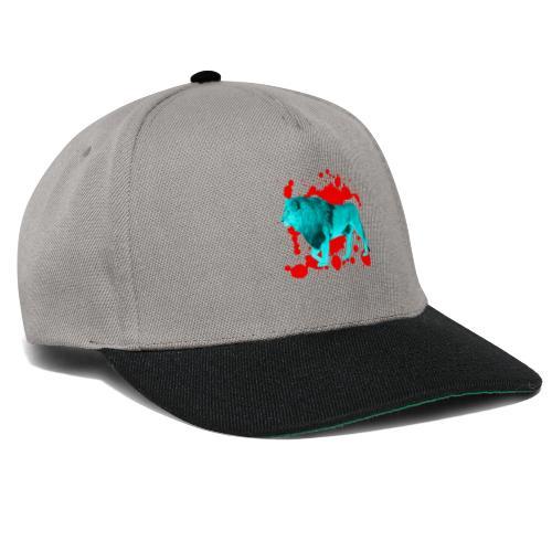 Löwe in Türkis - Snapback Cap