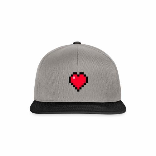 Cuore di pixel - Snapback Cap