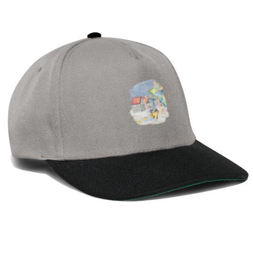cute rabbit fall - Snapback Cap