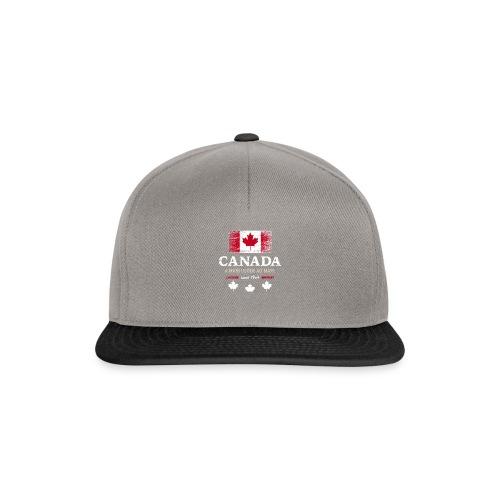 Canada Kanada Amerika maple leaf Flagge Fahne - Snapback Cap