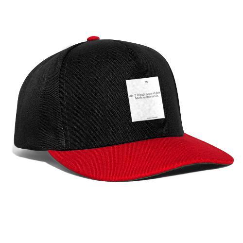 2 Dinge - Snapback Cap