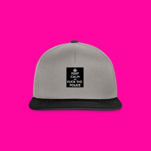 keep calm and fuck the police - Czapka typu snapback