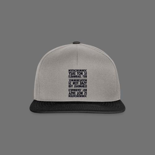 viestintä musta sixnineline - Snapback Cap