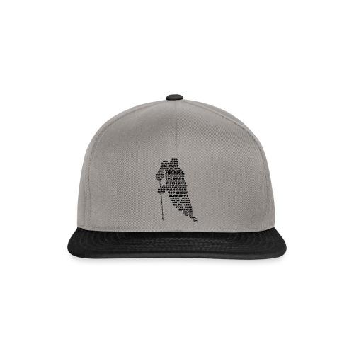 Language of Hockey (Black) - Snapback Cap
