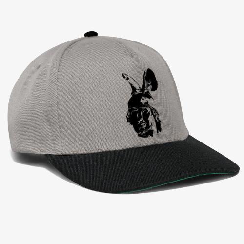 Kopf des Hermannsdenkmals - einfarbig, schlicht - Snapback Cap