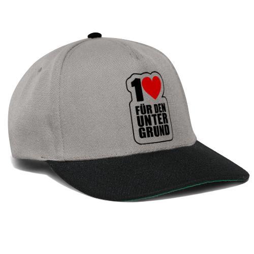 1 Herz für den Untergrund - Original Logo - Snapback Cap