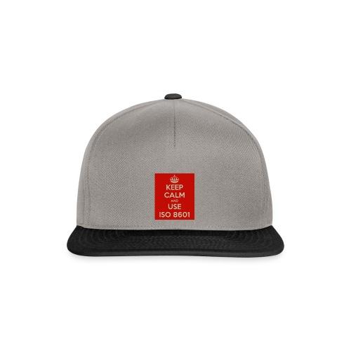 keep calm and use iso 8601 - Snapback-caps