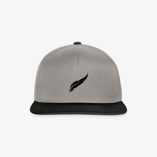 logo plume black - Casquette snapback