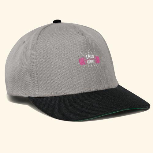 Iron Addict I VSK Funny Gym Shirt - Snapback Cap