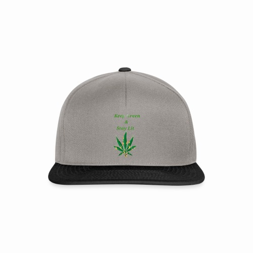 Keep green And Stay lit - Snapback Cap
