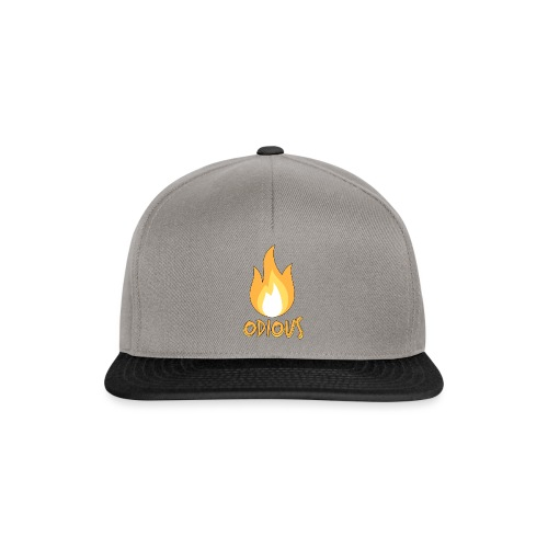 odious flame outlined - Snapback cap