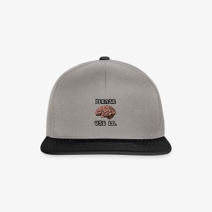 PLEASE USE IT BLACK - Czapka typu snapback