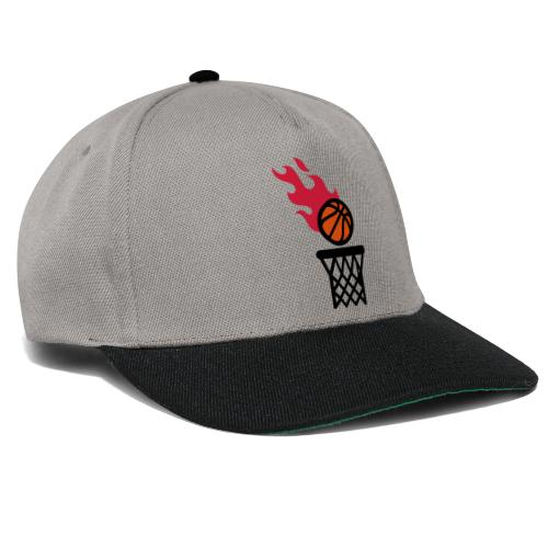 fire basketball - Snapback Cap