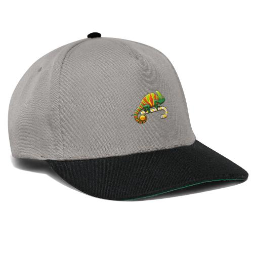Christmas Chameleon on a Candy Cane - Snapback Cap