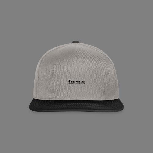 Ich mag Menschen - Snapback Cap