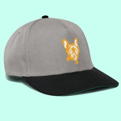 Bulldogge Beige schauend - Snapback Cap