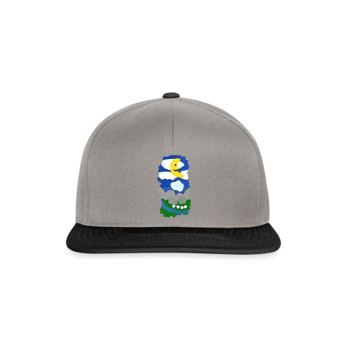 smiling moon and funny sheep - Snapback Cap
