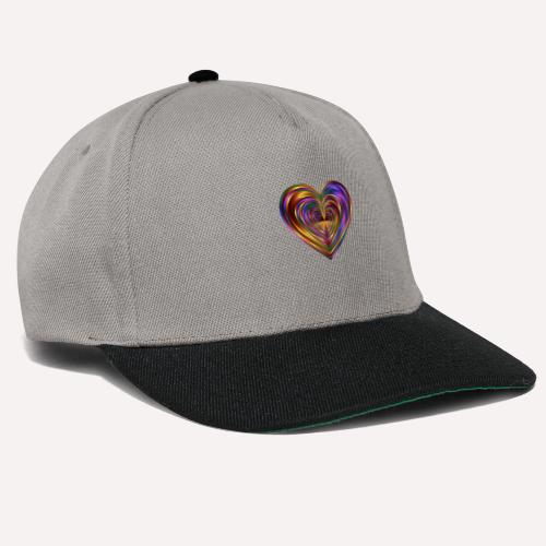 Colorful Love Heart Print T-shirts And Apparel - Snapback Cap