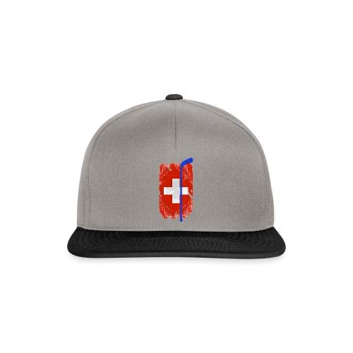 Schweizer Flagge Hockey - Snapback Cap