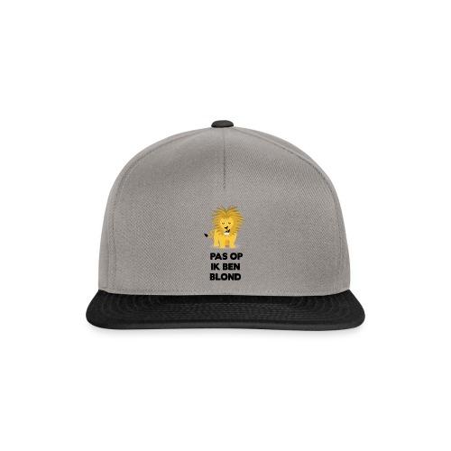 Pas op ik ben blond een cartoon van blonde leeuw - Snapback cap