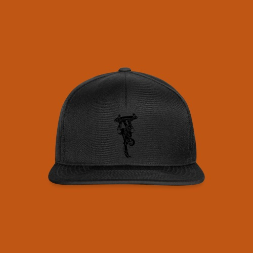 Skater / Skateboarder 02_schwarz - Snapback Cap