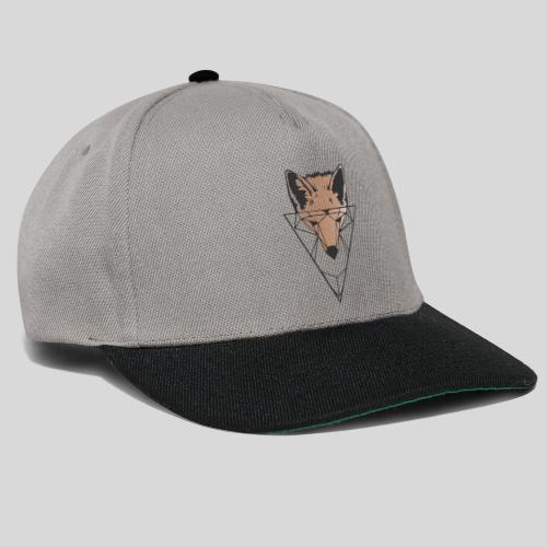 Fuchs Geometrie schwarz-orange - Snapback Cap