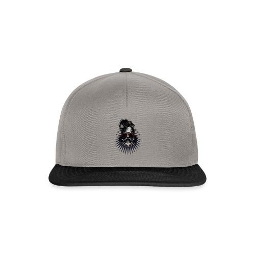 tete de mort hipster crane moustache skull logo lu - Casquette snapback